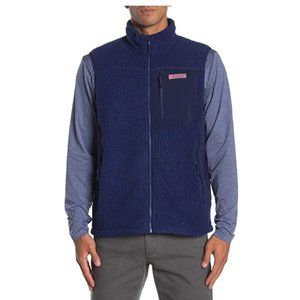 Vineyard Vines Men's Blue Fleece Heritage Soft S
